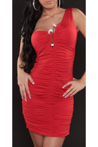 c18153a82d98 Obrázok pre Šaty so štrasovou sponou   červené