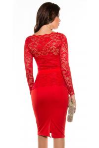 Šaty s čipkou   červené 13444f88f78