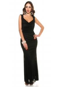 Slávnostné šaty s perlami   čierne 1259804304d