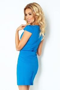 118-4 Decentné šaty   modrá 742a3fdfa7e