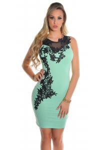 Obrázok pre Elegantné šaty s výšivkou   mätové 8cf153f2e0c