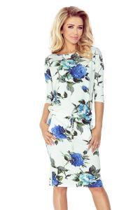 f178364b4867 13-65 Športové šaty   biele s veľkými modrými kvetmi