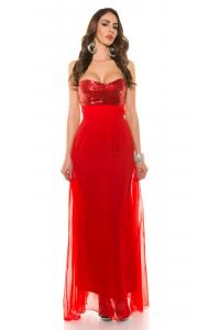 0cb666315d13 Večerné šaty s flitrami  červená