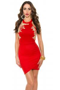 Šaty so zlatou výšivkou   červené d8ff7cb6dc5