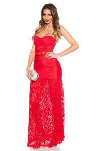 Obrázok pre Spoločenské šaty Koucla s krajkou   červené 661ea169d8f