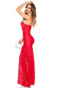 372fb53fc947 Spoločenské šaty Koucla s krajkou   červené