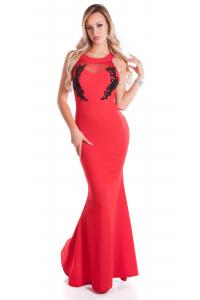 Dlhé spoločenské šaty   červené 89b88a3ae9