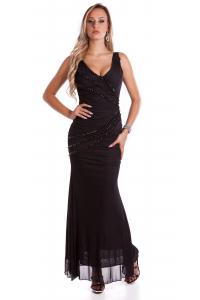 4e8aaa2e7c5f Spoločenské šaty s perličkami   čierne