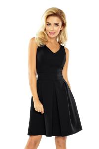 160-1 Elegantné šaty Numoco   čierne c5531b4bffa
