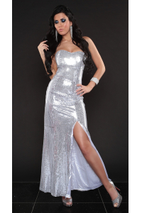 e4dc8e29a976 Obrázok pre Dlhé flitrové šaty   strieborné
