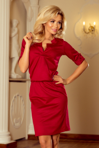 161-9 Numoco dámske šaty   bordové 9b451ec4991