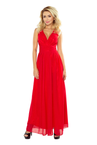 5f80d549a810 166-2 Dlhé šifónové šaty   červené