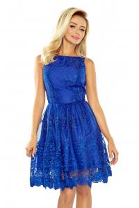 5217bc1a400 173-1 Exkluzívne krajkové šaty   modré