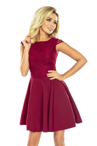 157-3 Spoločenské šaty numoco   bordové 2b207479376