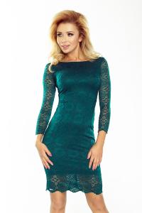 180-2 Elegantné krajkové šaty Numoco   zelené 150eb77f883