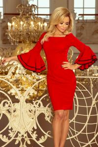 188-1 CARMEN šaty so španielskymi rukávmi   červené 35906574bae