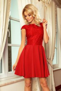 0534e5c5b19 157-8 Spoločenské šaty numoco   červené
