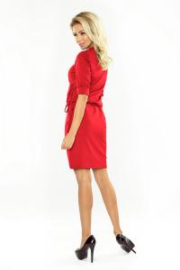161-11 AGATA - Numoco dámske šaty   červené 2407976ae91
