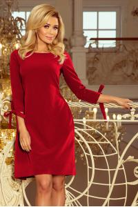 Obrázok pre 195-3 ALICE šaty s mašľami   bordové 97835dcbefb
