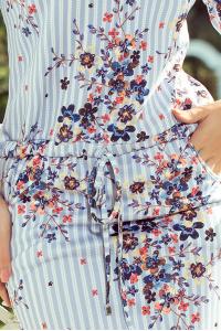 718929469cc1 13-93 Športové šaty   s modrými pásikmi a kvetmi