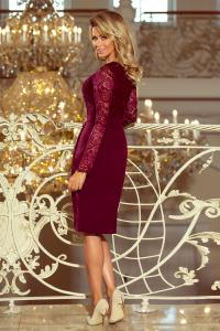 216-3 EMMA elegantné púzdrové šaty   bordové 566cb6317cd