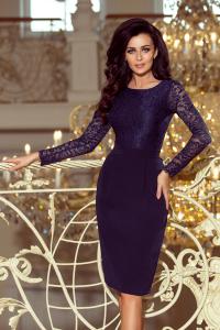 ec1eb925603b 216-1 EMMA elegantné púzdrové šaty   granátové