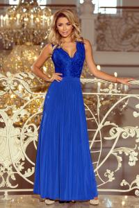 46f669692 211-3 LEA dlhé šaty s krajkou / modré