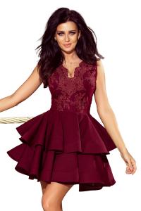 200-8 CHARLOTTE exkluzívne šaty   bordové 26c03d37c59
