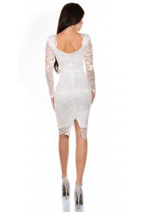 Obrázok pre Púzdrové čipkované šaty   biele 627148072e2