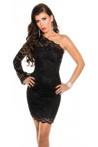 Obrázok pre Asymetrické čipkované šaty   čierne e6e5659b716