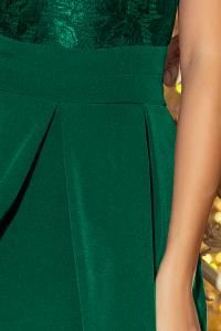 da344070c48 208-4 Šaty s čipkou a výstrihom   zelené