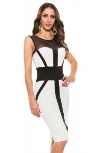 Obrázok pre Púzdrové šaty so zipsom   krémové d08588626c0