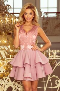 Obrázok pre 200-5 CHARLOTTE exkluzívne šaty   pastelovo ružové 47a6dc9148f