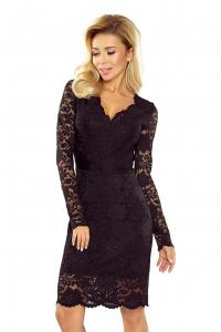 Obrázok pre 170-1 Krajkové šaty Numoco   čierne 29c6c7af237