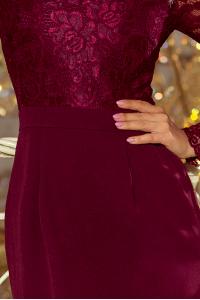 84a20e76e7cb 216-3 EMMA elegantné púzdrové šaty   bordové