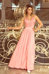 24c4bb020818 215-4 LEA dlhé šaty   pastelovo ružové
