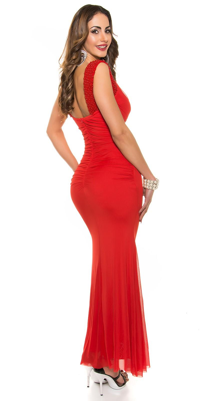 d01f83e0b604 ... Obrázok pre Slávnostné šaty s perlami   červené