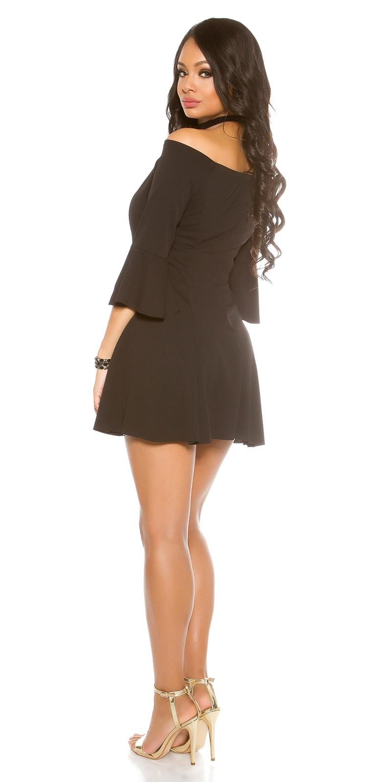 7c7701d4c038 Obrázok pre Šaty s odhalenými ramenami a rozšírenými rukávmi   čierne