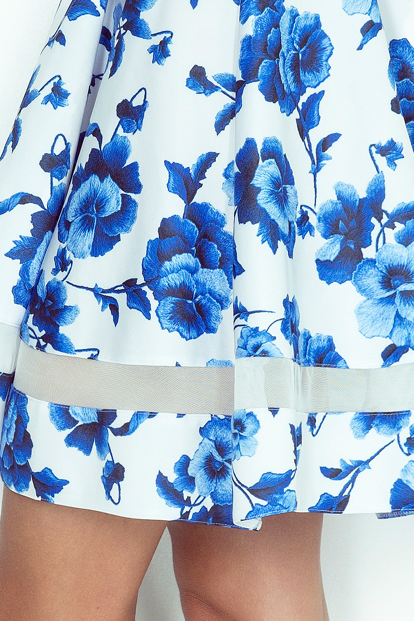 ... Obrázok pre MM 003-3 Rozšírené šaty s tylovými pruhmi ... 7b3233a6b28