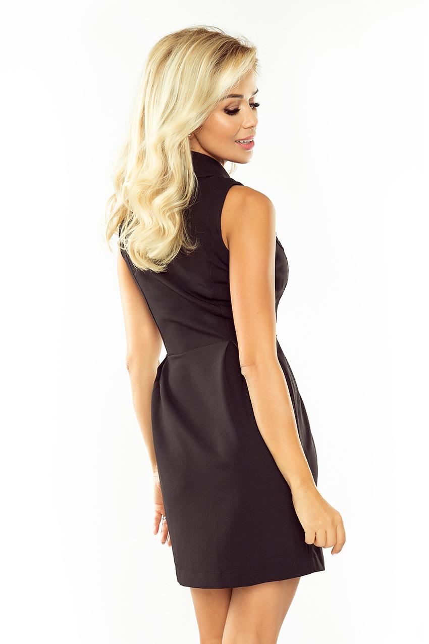 ... Obrázok pre 153-4 Elegantné asymetrické šaty Numoco   čierne ... f3f0037bc2