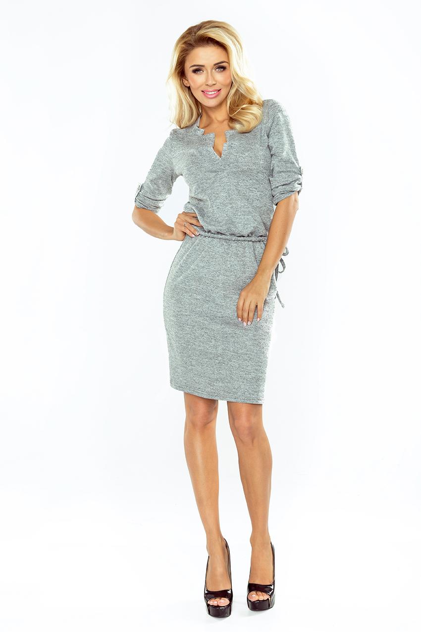 da7afa97ef4 ... Obrázok pre 161-3 Numoco dámske šaty   šedé ...