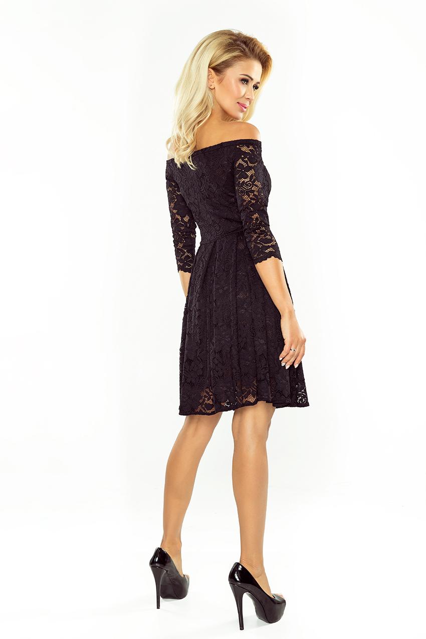2f2cfd4207a7 Obrázok pre 168-1 Krajkové šaty s odhalenými ramenami Numoco  čierne ...