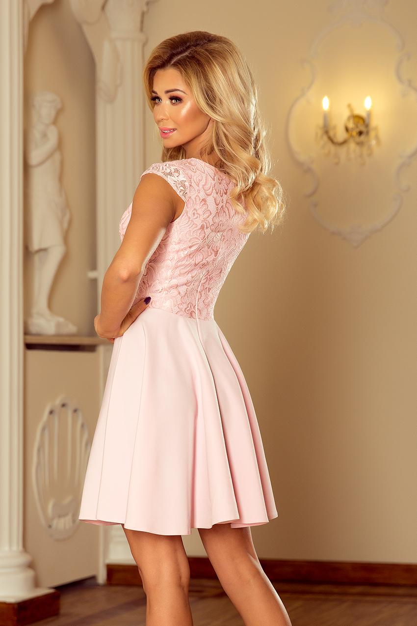 3ec0e999ae5f ... Obrázok pre 157-4 Spoločenské šaty numoco   pastelovo ružové ...