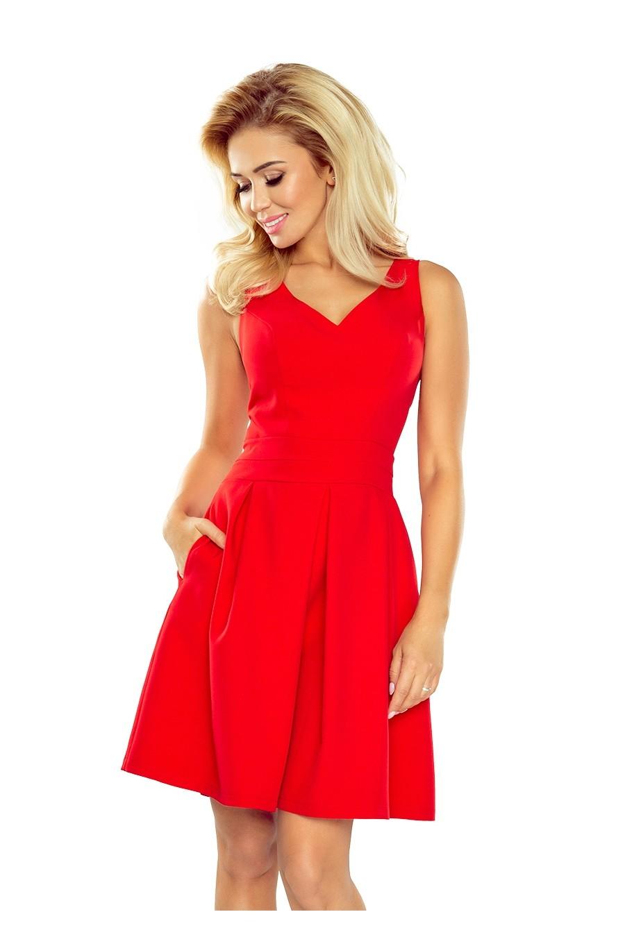 f34af6b338c7 ... Obrázok pre 160-3 Elegantné šaty Numoco   červené ...