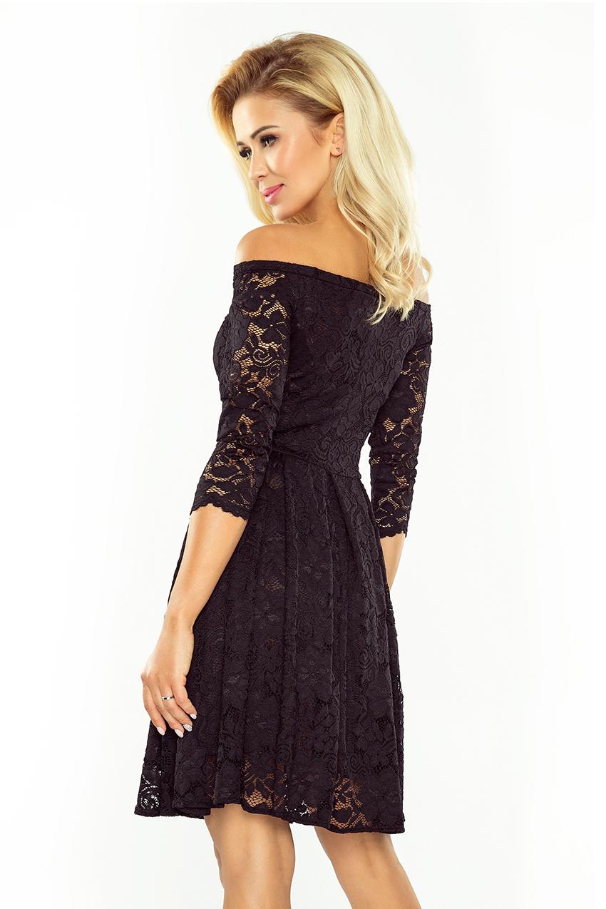 Obrázok pre 168-1 Krajkové šaty s odhalenými ramenami Numoco  čierne ... 8b703532761