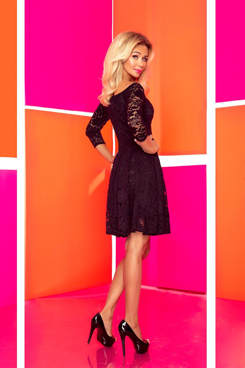 ... Obrázok pre 168-1 Krajkové šaty s odhalenými ramenami Numoco  čierne ... 07bb2404905