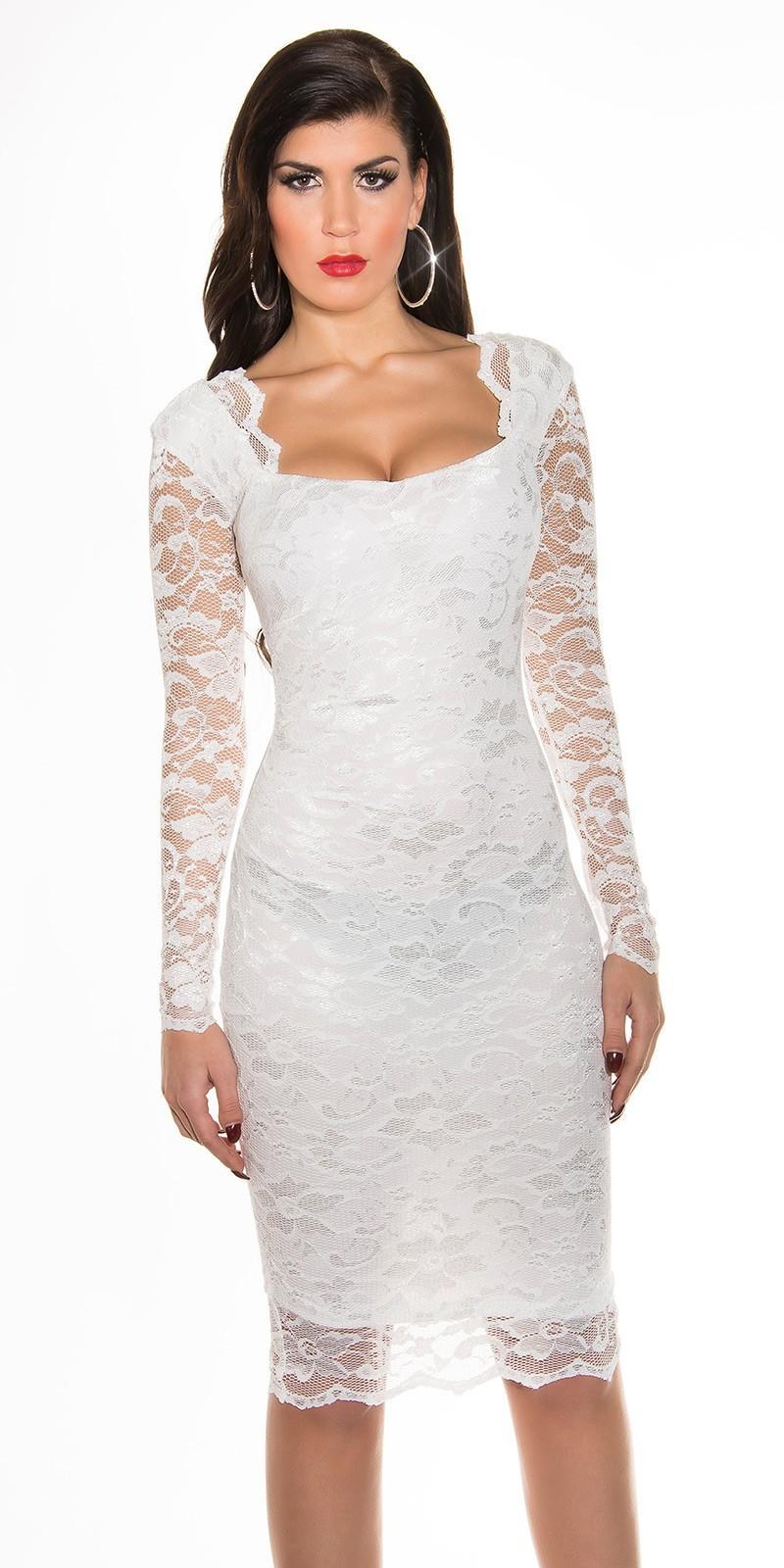 09d0b4a45a0c Obrázok pre Púzdrové čipkované šaty   biele. -30%