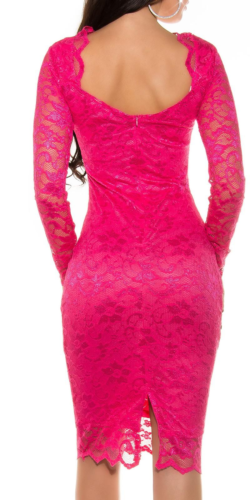 940ae580b17f ... Obrázok pre Púzdrové čipkované šaty   cyklamenové ...